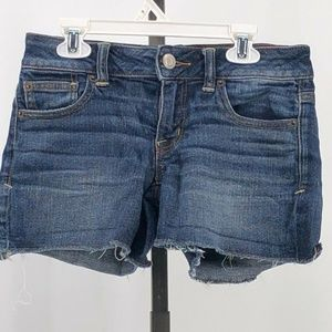 american eagle super stretch cutoff jean shorts 0